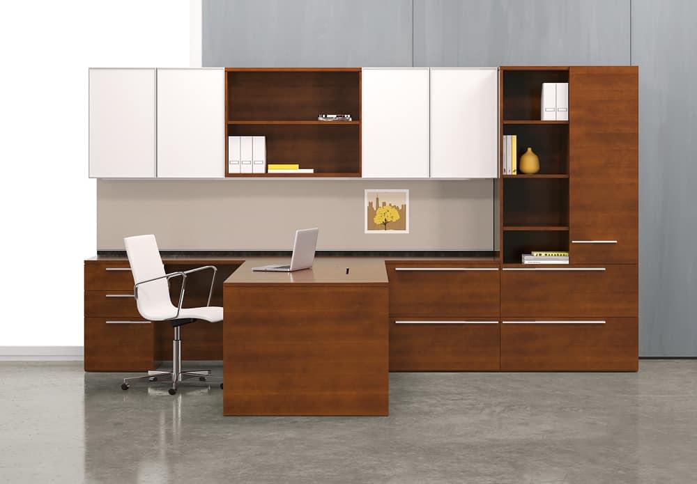 large brown desk