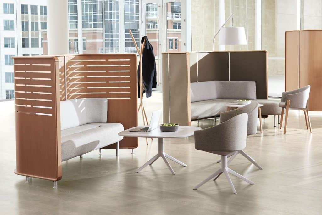 huddle spaces create privacy for employees to gather together